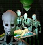 UFO-Ausländerabduktion lizenzfreie abbildung