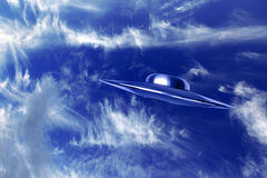 UFo and  beautiful blue sky Royalty Free Stock Photography