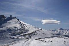 UFO in bergen Royalty-vrije Stock Afbeeldingen