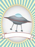 UFO blank product label bright oval Royalty Free Stock Photos