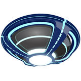 UFO bleu Photo stock