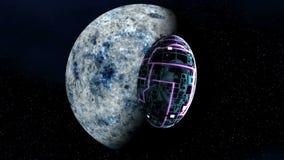 UFO blisko fantastycznej planety ilustracja wektor