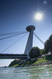 UFO Bridge. Aginst the light Royalty Free Stock Image