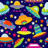 UFO cartoon seamless Royalty Free Stock Images