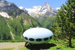 Ufo Caucasus mountain Royalty Free Stock Photo