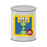 UFO conservado Extranjero de la lata Ilustración del vector Fotos de archivo