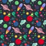 UFO cosmos pattern Royalty Free Stock Image