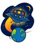 UFO d'étrangers illustration stock