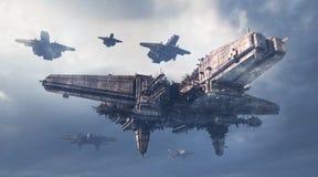 UFO 3d Стоковое Изображение