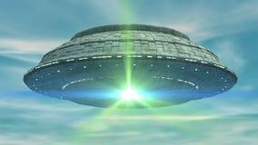 UFO 3d ilustração royalty free