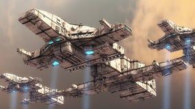 UFO 3d Стоковая Фотография RF