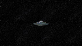 UFO. 3D CG rendering of the UFO stock footage