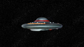 UFO. 3D CG rendering of a UFO stock video
