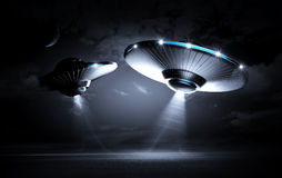 UFO in the dark night Stock Photography