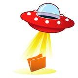 UFO-Datei-Antriebskraft-Ikone Stockbilder
