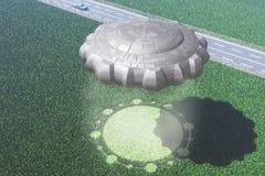 UFO de collecte de cercle illustration libre de droits