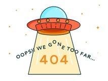 UFO de 404 errores Fotografía de archivo