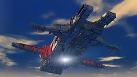 UFO de la nave espacial Imágenes de archivo libres de regalías