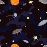 UFO in de ruimte. Stock Afbeeldingen