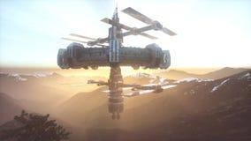 UFO del extranjero en la tierra ilustración del vector