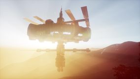 UFO del extranjero en la tierra stock de ilustración
