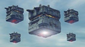 UFO dell'astronave Fotografie Stock Libere da Diritti
