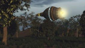 UFO dell'oggetto volante non identificato Immagini Stock