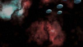 UFO della flottiglia stock footage