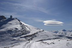 UFO in den Bergen Lizenzfreie Stockbilder