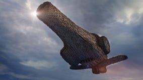 UFO des SCIFI-3d Stockbilder