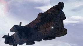 UFO des SCIFI-3d Lizenzfreies Stockfoto