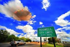 UFO di Roswell Immagini Stock