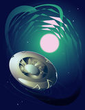 UFO do espaço Imagens de Stock Royalty Free