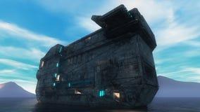 UFO du bateau 3d Images libres de droits