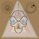 UFO: el modelo geométrico en fondo brillante libre illustration