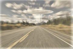 UFO en el Alcan Fotos de archivo