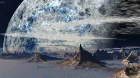 UFO en fantastische planeet stock videobeelden