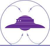 Ufo field. Magnetic illustration vector artwork Stock Images