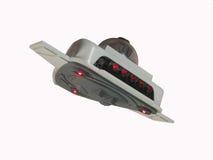UFO in flight. Small UFO in flight with illumination Royalty Free Stock Image
