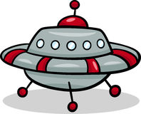 Ufo flying saucer cartoon illustration Stock Images