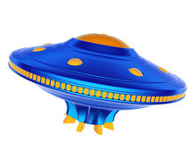UFO. Flying saucer. Flying saucer isolated on the white background Royalty Free Stock Image