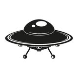 UFO. Flying saucer vector iconn Stock Images