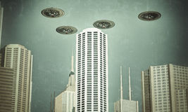 Ufo in formations Stock Image