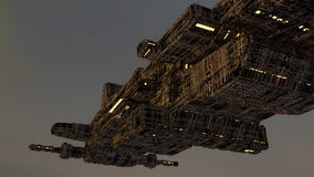 ufo futuristic spaceship Arkivfoton