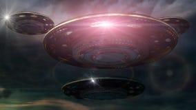 UFO futuristico 3d royalty illustrazione gratis