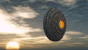 UFO futuristico dell'astronave Immagini Stock