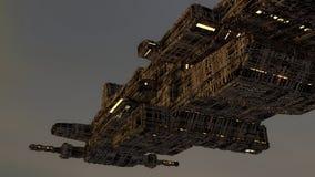 UFO Futuristisch ruimteschip Stock Foto's