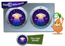UFO game 9 differences Stock Images