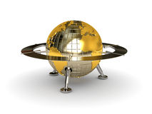 Ufo globe Royalty Free Stock Photography