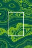 Ufo groene abstracte achtergrond en vloeibaar ontwerp, vloeistof royalty-vrije illustratie